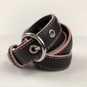 Cole Haan Brown & Pink Leather Belt
